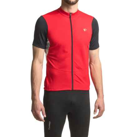 Pearl Izumi Attack Cycling Jersey - Short Sleeve (For Men) in True Red - Closeouts
