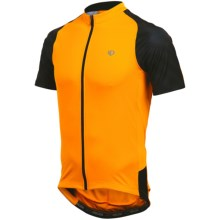 Pearl Izumi Attack Cycling Jersey - UPF 50+, Full Zip, Short Sleeve (For Men) in Safety Orange/Black - Closeouts