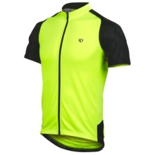 Pearl Izumi Attack Cycling Jersey - UPF 50+, Full Zip, Short Sleeve (For Men) in Screaming Yellow/Black - Closeouts