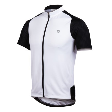 Pearl Izumi Attack Cycling Jersey - UPF 50+, Full Zip, Short Sleeve (For Men) in White/Black