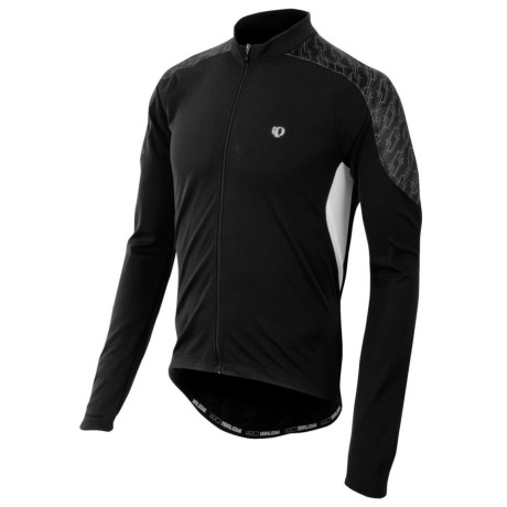 Pearl Izumi Attack Cycling Jersey - UPF 50+, Long Sleeve (For Men) in Black/White