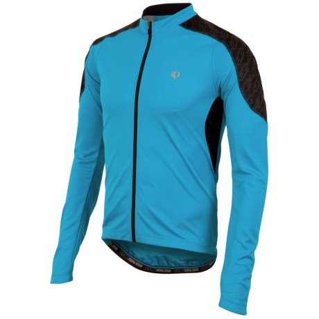 Pearl Izumi Attack Cycling Jersey - UPF 50+, Long Sleeve (For Men) in Electric Blue/Black