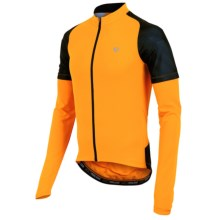 Pearl Izumi Attack Cycling Jersey - UPF 50+, Long Sleeve (For Men) in Safety Orange/Black - Closeouts