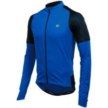 Pearl Izumi Attack Cycling Jersey - UPF 50+, Long Sleeve (For Men) in True Blue/Black - Closeouts