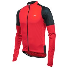 Pearl Izumi Attack Cycling Jersey - UPF 50+, Long Sleeve (For Men) in True Red/Black - Closeouts