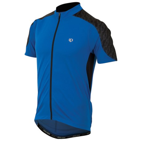 Pearl Izumi Attack Cycling Jersey - UPF 50+, Short Sleeve (For Men) in True Blue/Black