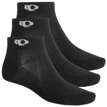 Pearl Izumi Attack Low Socks - 3-Pack, Ankle (For Men) in Black - Closeouts