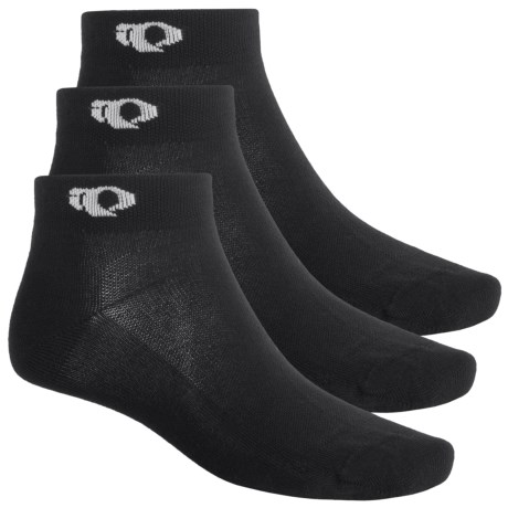 Pearl Izumi Attack Low Socks - 3-Pack, Ankle (For Men) in Black