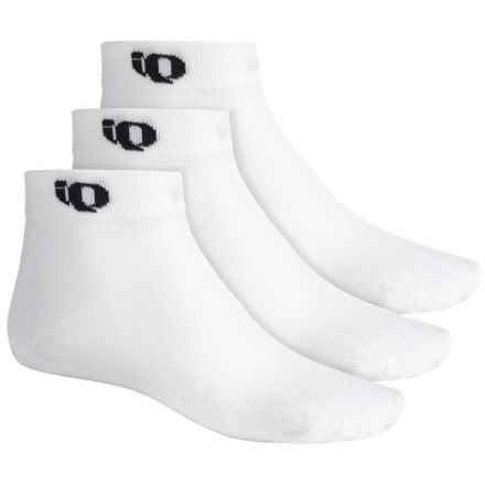 Pearl Izumi Attack Low Socks - 3-Pack, Ankle (For Men) in White - Closeouts