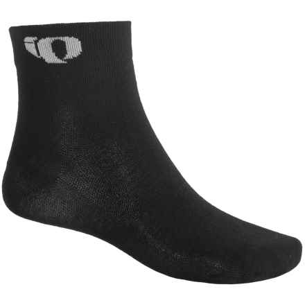 Pearl Izumi Attack Socks - Quarter Crew (For Men and Women) in Black - Closeouts