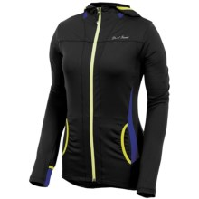 Pearl Izumi Aurora Lightweight Hoodie Shirt - Front Zip (For Women) in Black/Dahlia - Closeouts
