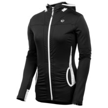 Pearl Izumi Aurora Lightweight Hoodie Shirt - Front Zip (For Women) in Black/White - Closeouts