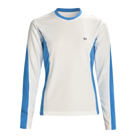 Pearl Izumi Aurora T-Shirt - Long Sleeve (For Women) in White/Pacifica Blue