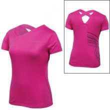 Pearl Izumi Aurora T-Shirt - V-Neck, Short Sleeve (For Women) in Pink Punch/Black - Closeouts