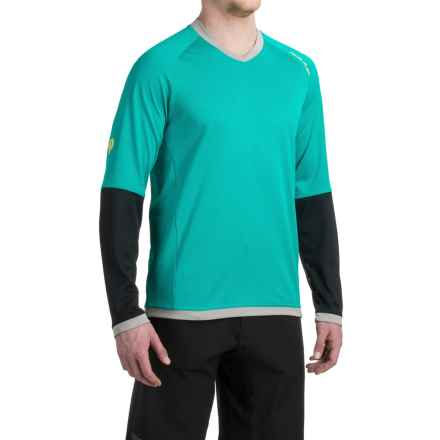 Pearl Izumi Big Air Mountain Bike Jersey - V-Neck, Long Sleeve (For Men) in Viridian Green - Closeouts