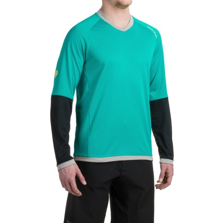Pearl Izumi Big Air Mountain Bike Jersey - V-Neck, Long Sleeve (For Men) in Viridian Green