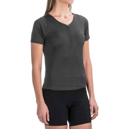 Pearl Izumi Canyon Cycling Jersey - Zip Neck, Short Sleeve (For Women) in Black - Closeouts