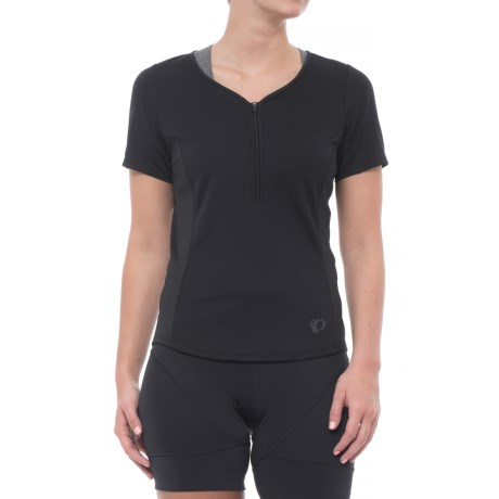 Pearl Izumi Canyon Cycling Jersey - Zip Neck, Short Sleeve (For Women) in Black