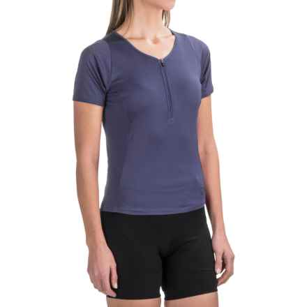 Pearl Izumi Canyon Cycling Jersey - Zip Neck, Short Sleeve (For Women) in Deep Indigo - Closeouts