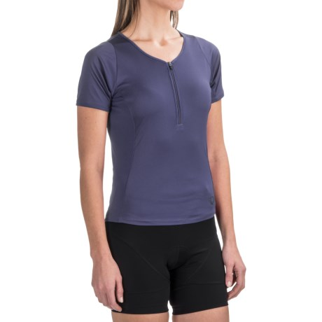 Pearl Izumi Canyon Cycling Jersey - Zip Neck, Short Sleeve (For Women) in Deep Indigo
