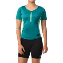 Pearl Izumi Canyon Cycling Jersey - Zip Neck, Short Sleeve (For Women) in Deep Lake - Closeouts