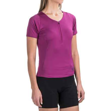 Pearl Izumi Canyon Cycling Jersey - Zip Neck, Short Sleeve (For Women) in Purple Wine - Closeouts