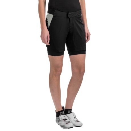 Pearl Izumi Canyon Mountain Bike Shorts - 2-Piece (For Women) in Black/Monument Grey