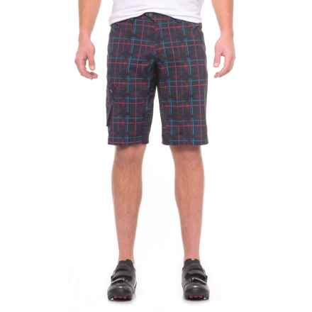 Pearl Izumi Canyon Mountain Bike Shorts - Removable Liner Shorts (For Men) in Eclipse Blue Plaid - Closeouts