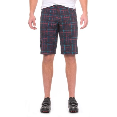 Pearl Izumi Canyon Mountain Bike Shorts - Removable Liner Shorts (For Men) in Eclipse Blue Plaid