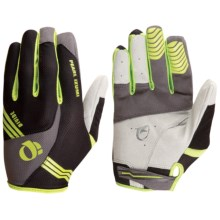 Pearl Izumi Divide Bike Gloves - Full Finger (For Men) in Shadow Grey/Lime - Closeouts