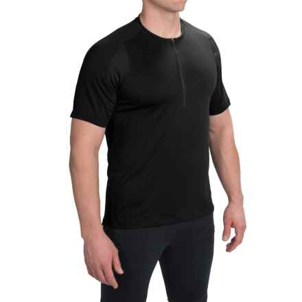 Pearl Izumi Divide Cycling Jersey - Zip Neck, Short Sleeve (For Men) in Black/Black - Closeouts