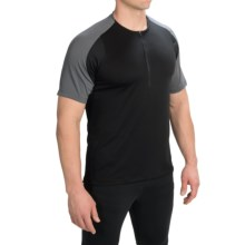 Pearl Izumi Divide Cycling Jersey - Zip Neck, Short Sleeve (For Men) in Black - Closeouts