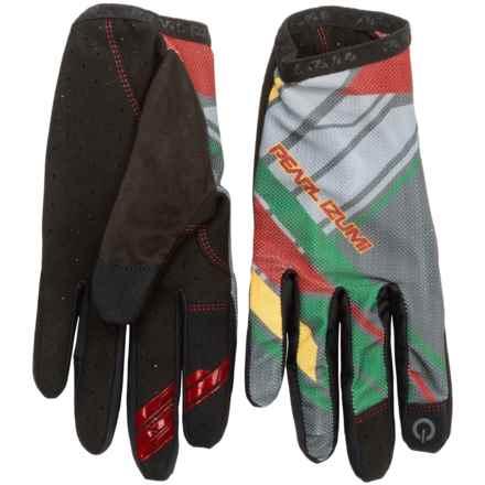 Pearl Izumi Divide Mountain Bike Gloves - Touchscreen Compatible (For Men) in Rasta - Closeouts