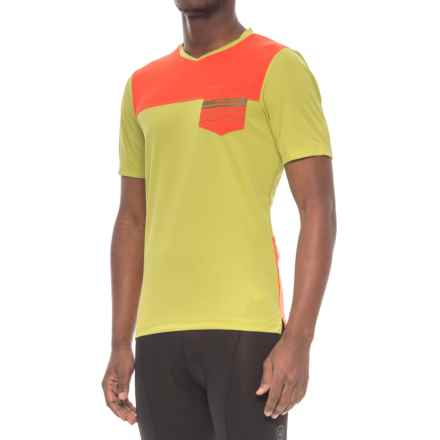 Pearl Izumi Divide Mountain Bike Jersey - Short Sleeve (For Men) in Citron / Orange.Com - Closeouts