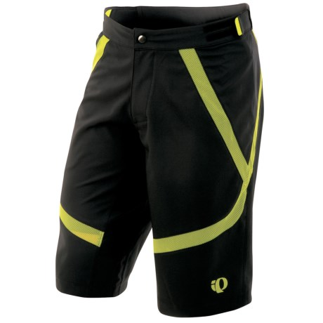 Pearl Izumi Divide Mountain Bike Shorts (For Men) in Black/Lime