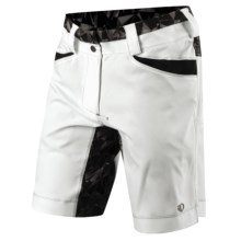 Pearl Izumi Divide Mountain Bike Shorts (For Women) in White/Black Kaleido - Closeouts