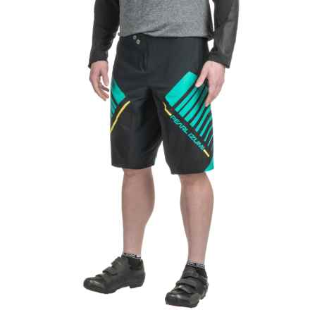 Pearl Izumi Divide XC Shell Shorts (For Men) in Black/Viridian Green - Closeouts