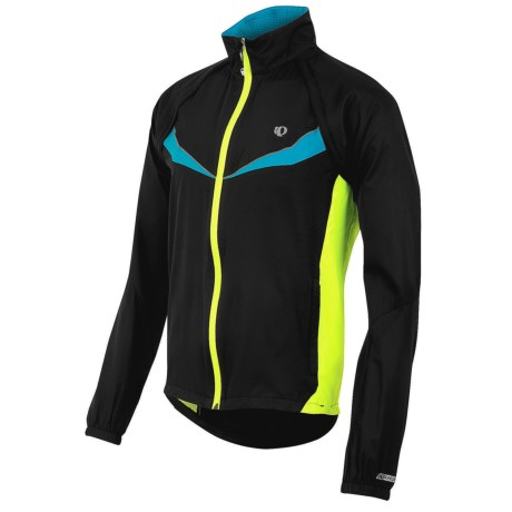 Pearl Izumi Elite Barrier Convertible Cycling Jacket (For Men) in Black/Screaming Yellow