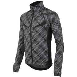 Pearl Izumi Elite Barrier Convertible Cycling Jacket (For Men) in Samurai Plaid