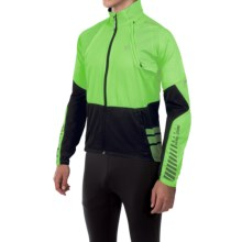 Pearl Izumi ELITE Barrier Convertible Jacket (For Men) in Green Flash/Black - Closeouts
