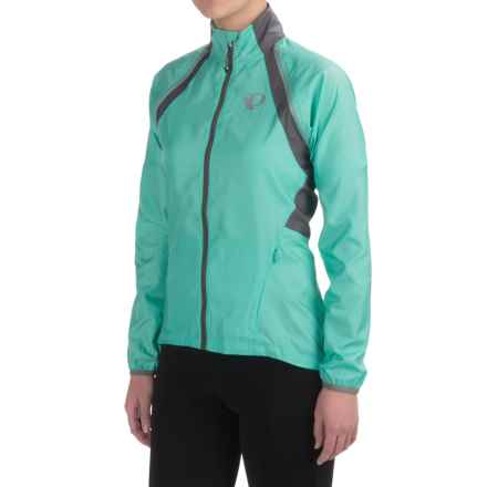 Pearl Izumi ELITE Barrier Convertible Jacket (For Women) in Aqua Mint/Smoked Pearl - Closeouts