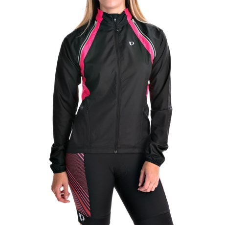 Pearl Izumi ELITE Barrier Convertible Jacket (For Women) in Black/Sy/Sp