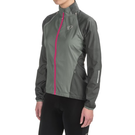Pearl Izumi ELITE Barrier Convertible Jacket (For Women) in Monument/Smoked Pearl