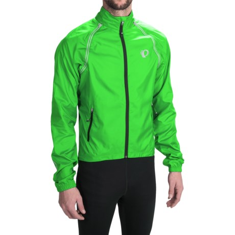 7027f63ab Pearl Izumi ELITE Barrier Cycling Jacket - Convertible (For Men) in  Screaming Green
