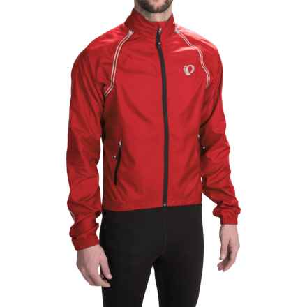 Pearl Izumi Elite Barrier Cycling Jacket - Convertible (For Men) in True Red - Closeouts