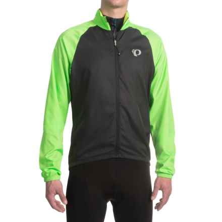 Pearl Izumi ELITE Barrier Cycling Jacket (For Men) in Black/Screaming Green - Closeouts