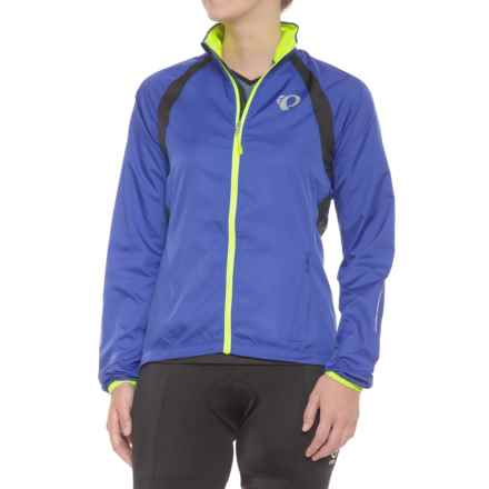 Pearl Izumi ELITE Barrier Cycling Jacket (For Women) in Dazzling Blue/Black - Closeouts