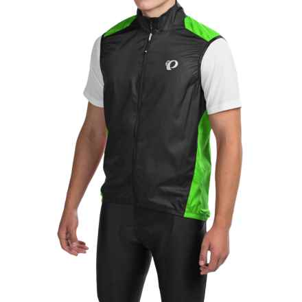 Pearl Izumi ELITE Barrier Cycling Vest (For Men) in Screaming Green/Black - Closeouts