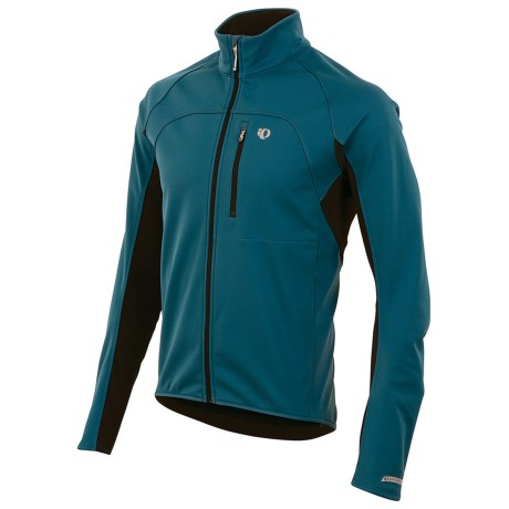 Pearl Izumi ELITE Cycling Jacket - Soft Shell, Insulated (For Men) in Petrol Blue/Black
