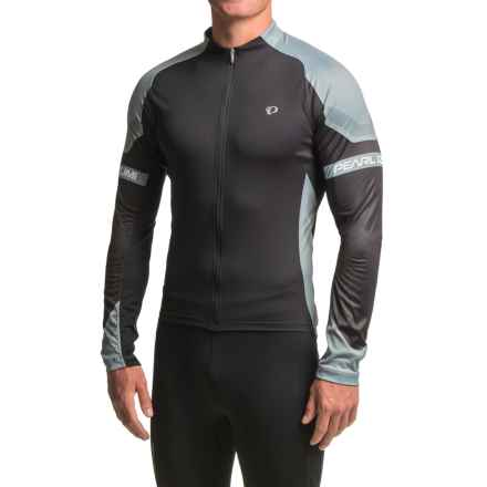 Pearl Izumi ELITE Cycling Jersey - Full Zip, Long Sleeve (For Men) in Cool Stealth - Closeouts